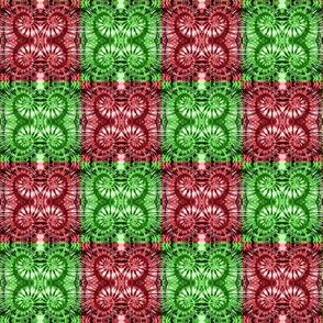 Green & Red Checkered Spirals