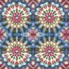 Kaleidoscope Burst Blue & Green