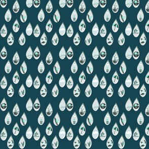 Whispers in the rain blue