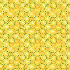 Juicy ripe slices of citrus fruits.