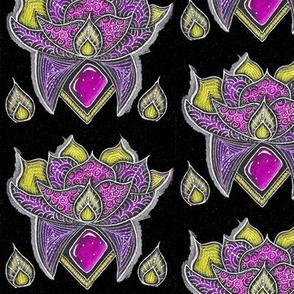 Lotus glow pink and yellow