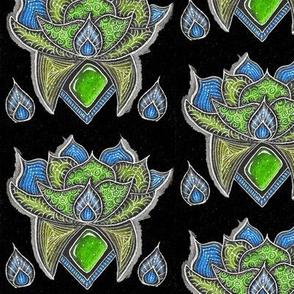 Lotus glow green