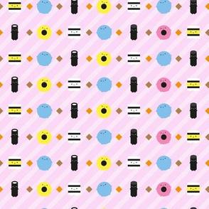 Kawaii Candy Liquorice Allsorts (Pink Stripe)