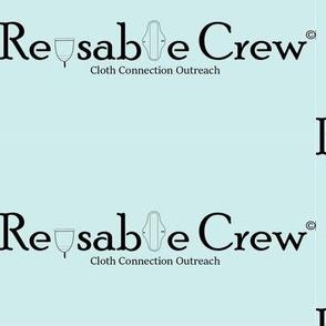Reusable Crew logo. CCO blue