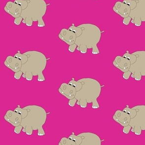 """Pink Hippo 3"""""""