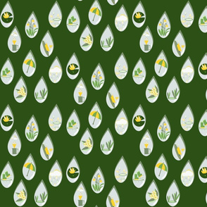 Whispers in the rain green