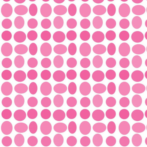 Sunwashed Pebble Dots in Peony
