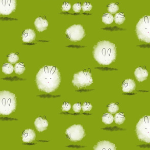 Dustbunnies (Acid Green)