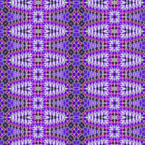 Purple Stripes with Flowers