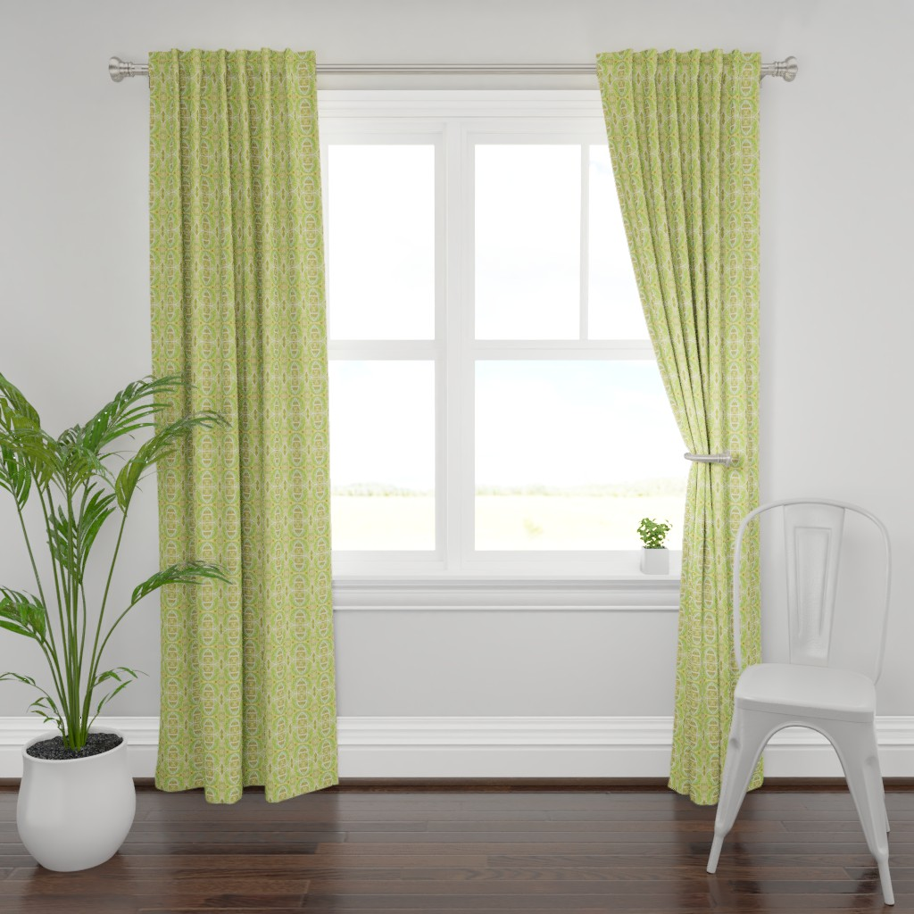Plymouth Curtain Panel featuring Gothic Sunshine by edsel2084