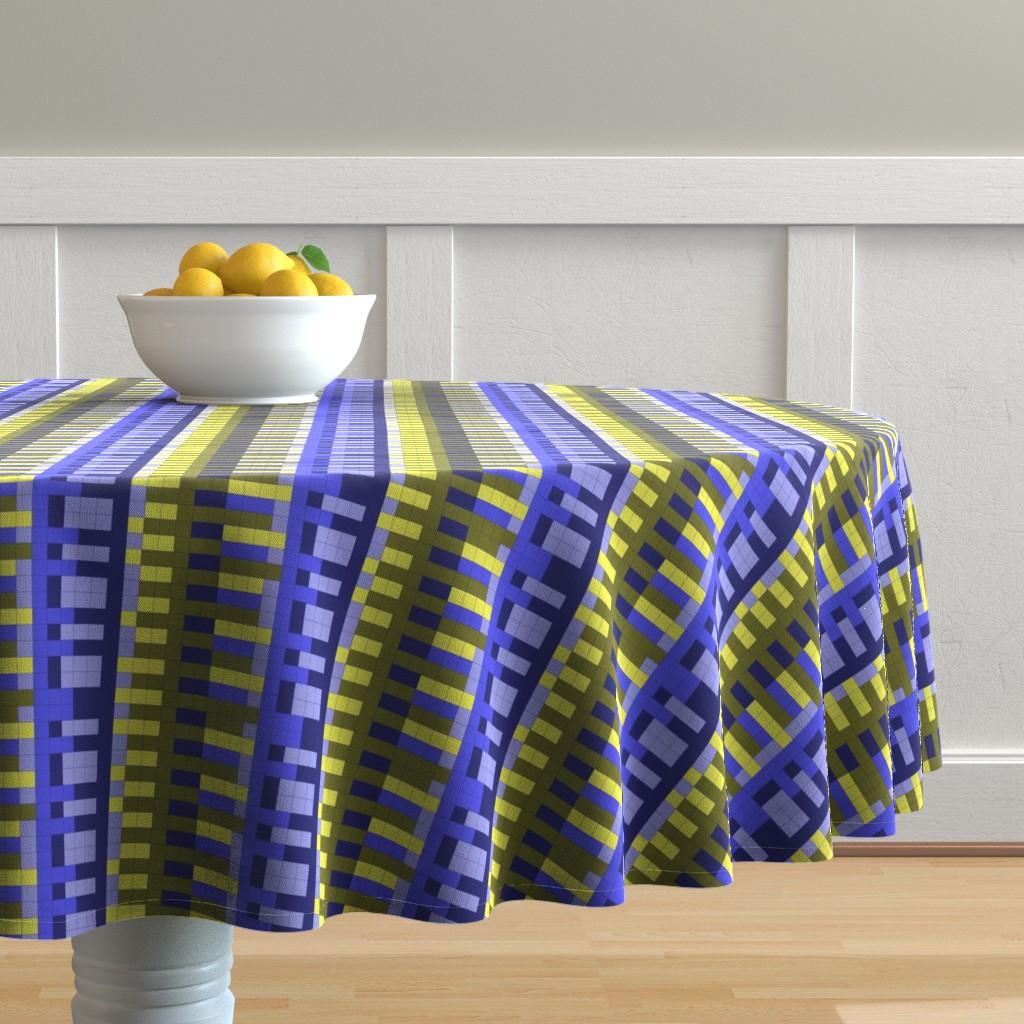 Malay Round Tablecloth featuring bauhaus by katrinkastem