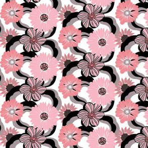 Waves of Flowers Pink Tuxedo