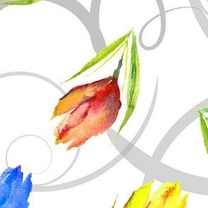 florals and swirls