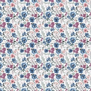MINI Berry Meadow Floral on Cream