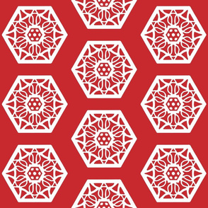 Chinese delicate red and white pattern