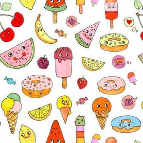 Kawaii Donuts and Ice Cream