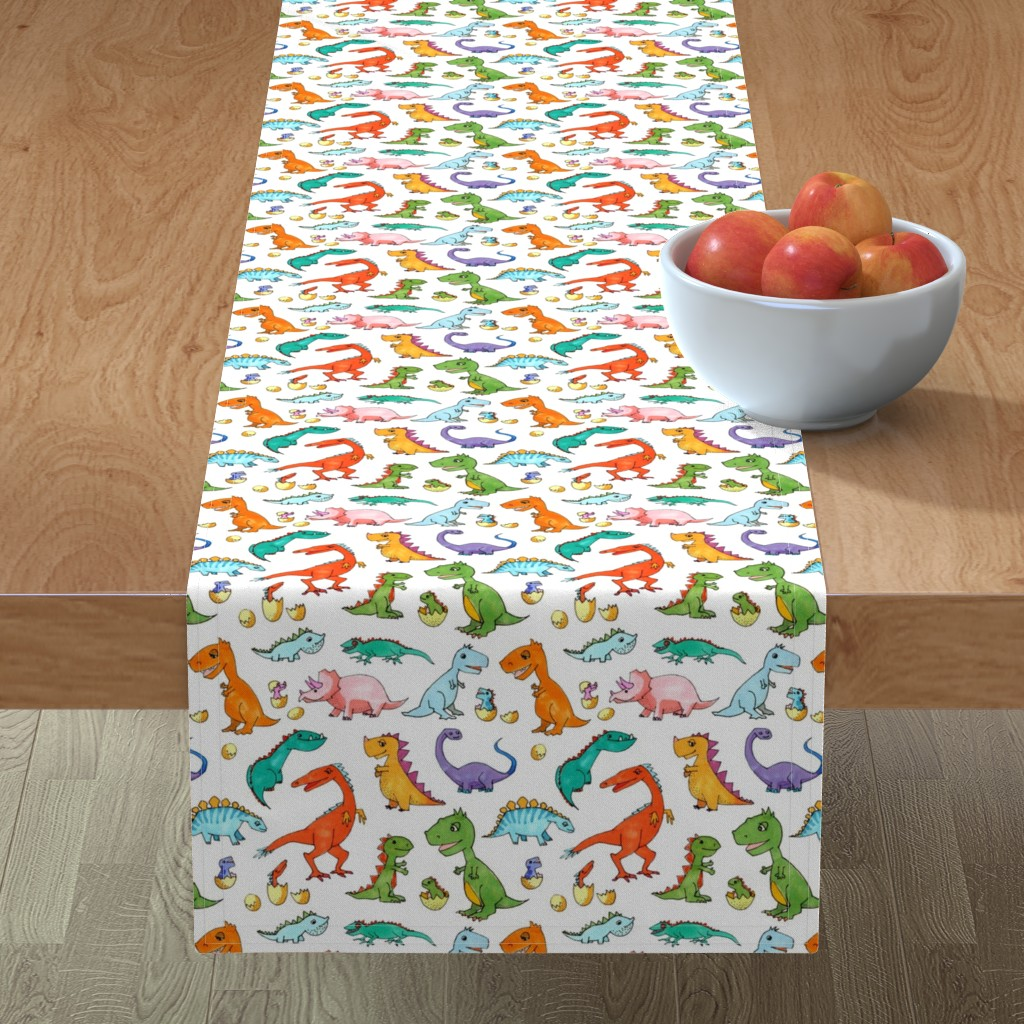 Minorca Table Runner featuring Dino Families by lucy_&_me