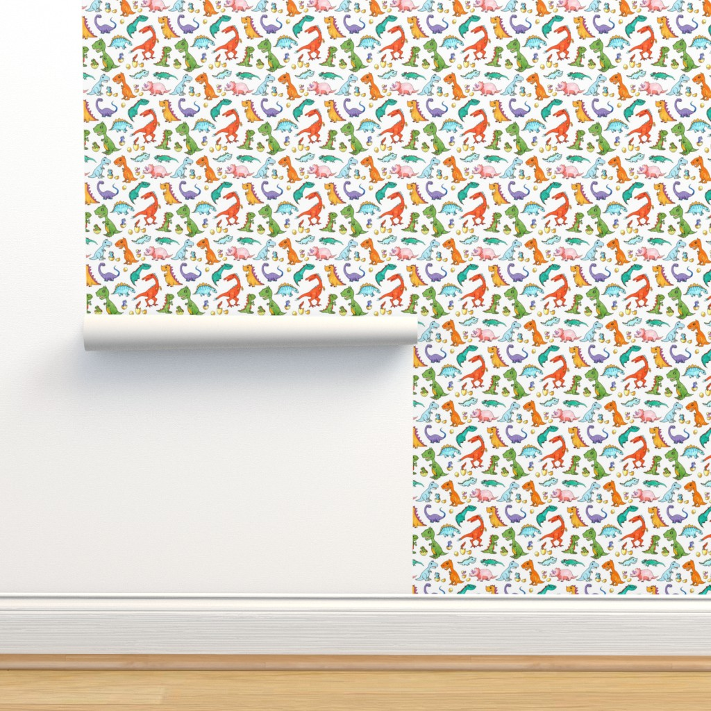 Isobar Durable Wallpaper featuring Dino Families by lucy_&_me