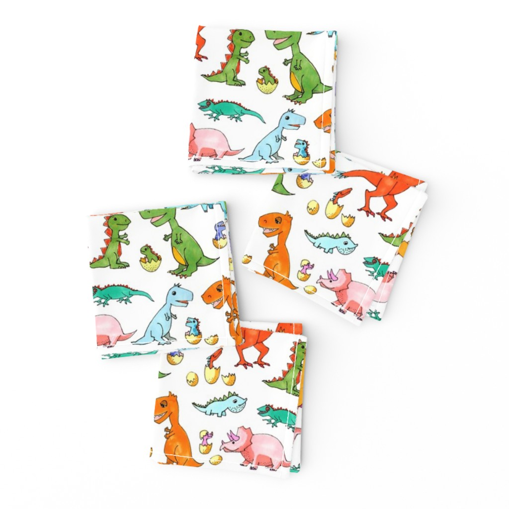 Frizzle Cocktail Napkins featuring Dino Families by lucy_&_me