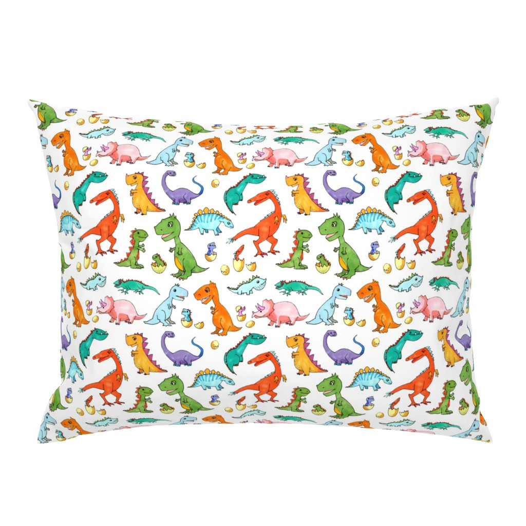 Campine Pillow Sham featuring Dino Families by lucy_&_me