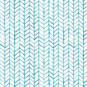 chevron watercolor blue