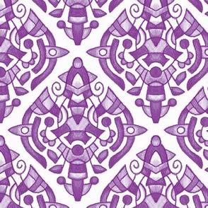 Crayon Medallion -  18B Purple 6in