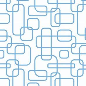 Rounded Rectangles - light blue on white