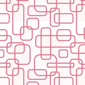 Rounded Rectangle - Pink on White
