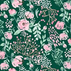 Green Fields Watercolor Florals