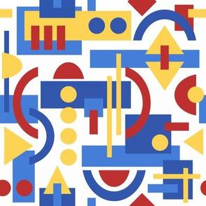 Bauhaus inspired geometric on White