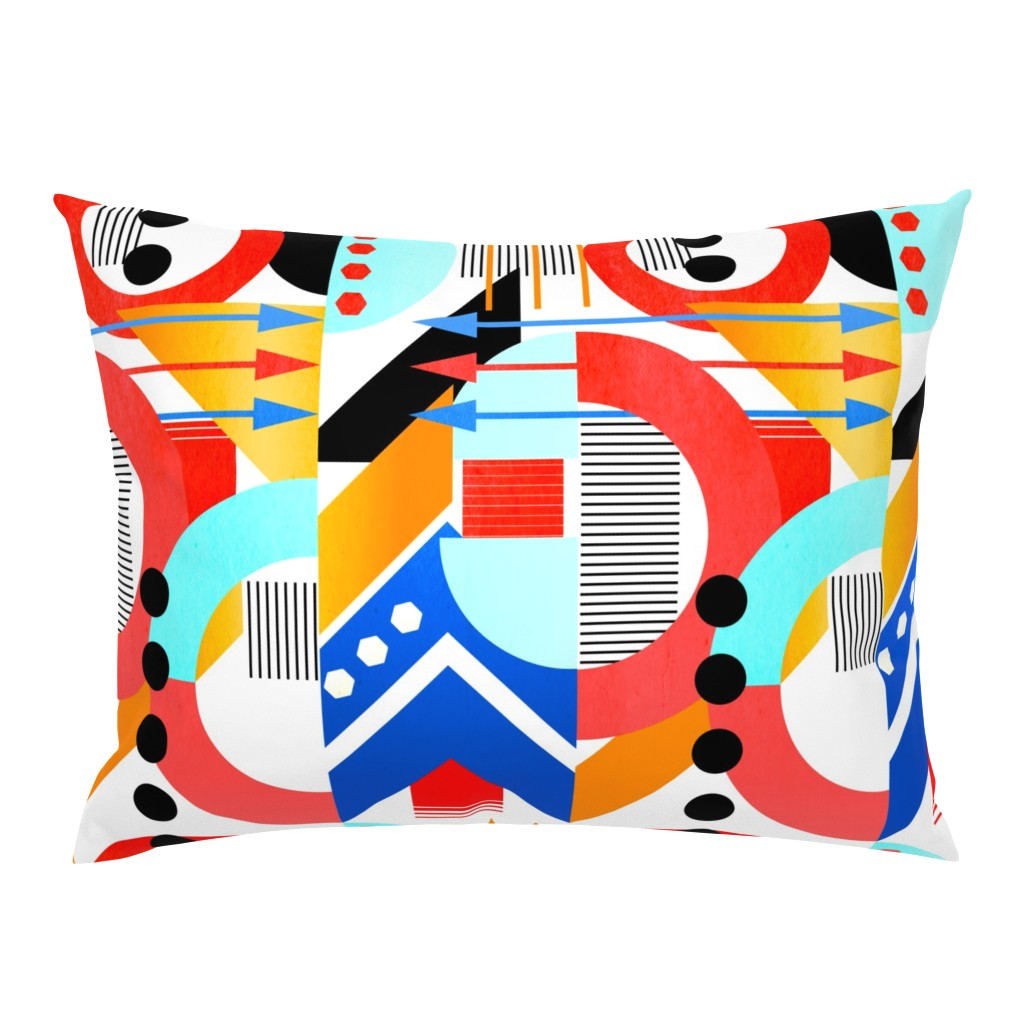 Campine Pillow Sham featuring Bauhaus by jadegordon