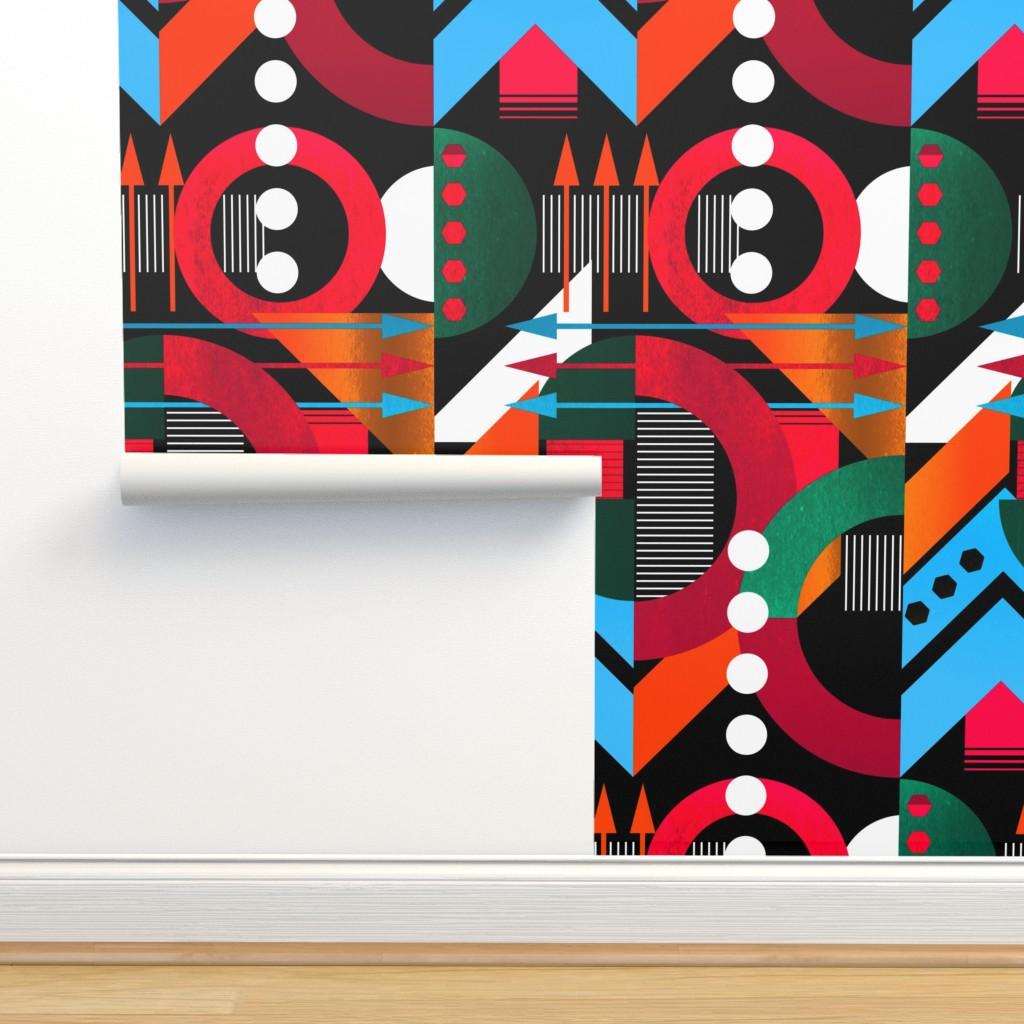 Isobar Durable Wallpaper featuring Bauhaus Dark by jadegordon