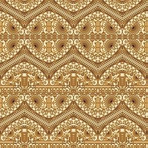 Golden Royal Arabic Pattern