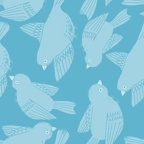 Flutter Birds on Sky Blue