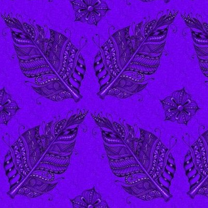 Zen feather dark purple