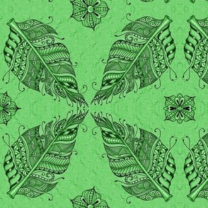 Zen feather green