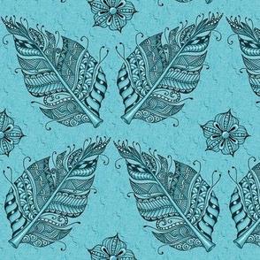Zen feather teal