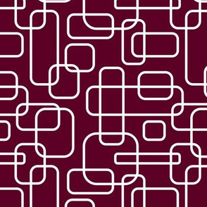 Rounded Rectangles - White on Aggie Maroon