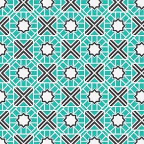 Mosaic Diamonds Asian Geometric Pattern