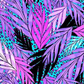 neon jungle in cool lavender