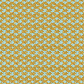 Gold Rush Pale Blue Background