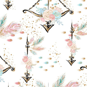 Boho Floral Arrows Rotated