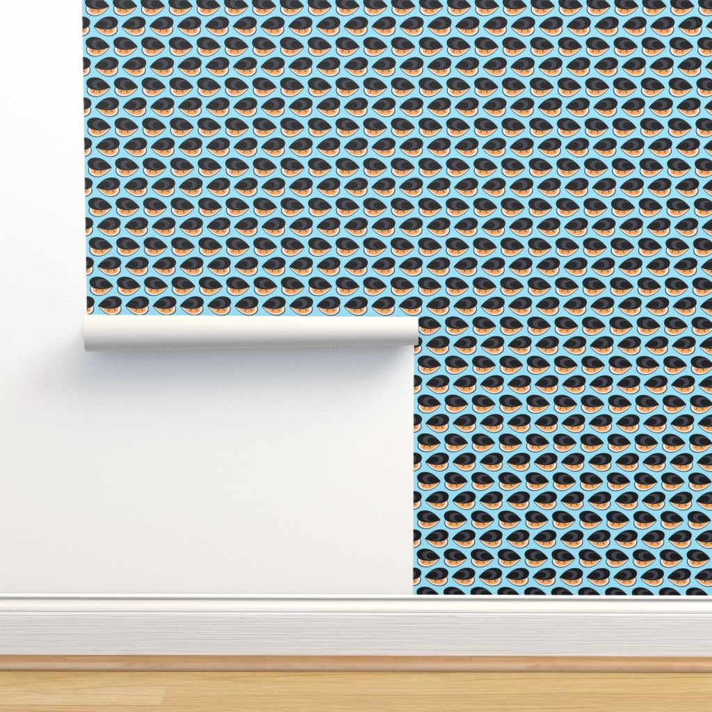 Isobar Durable Wallpaper featuring Cute mussels by petitspixels