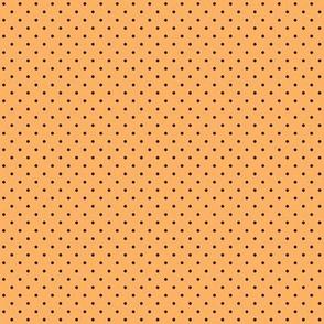 Charcoal polkadots on orange