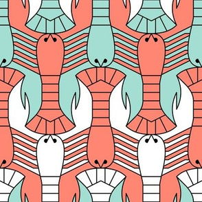 07655064 © lobster parade 2j : spoonflower0293