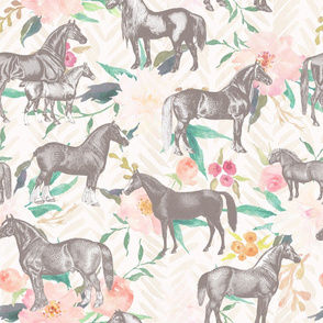 Horses and Flowers