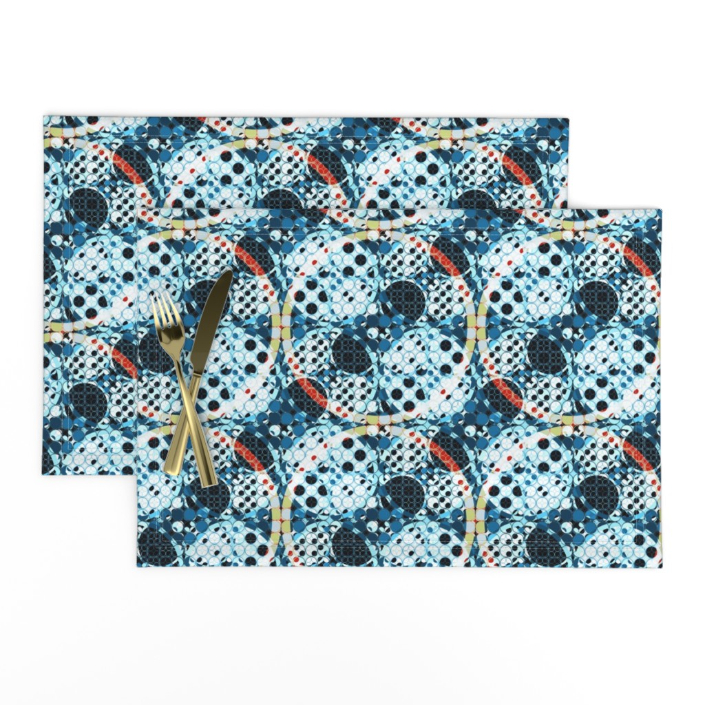 Lamona Cloth Placemats featuring combo of circles by variable