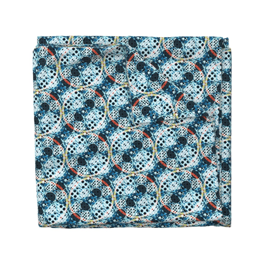 Wyandotte Duvet Cover featuring combo of circles by variable