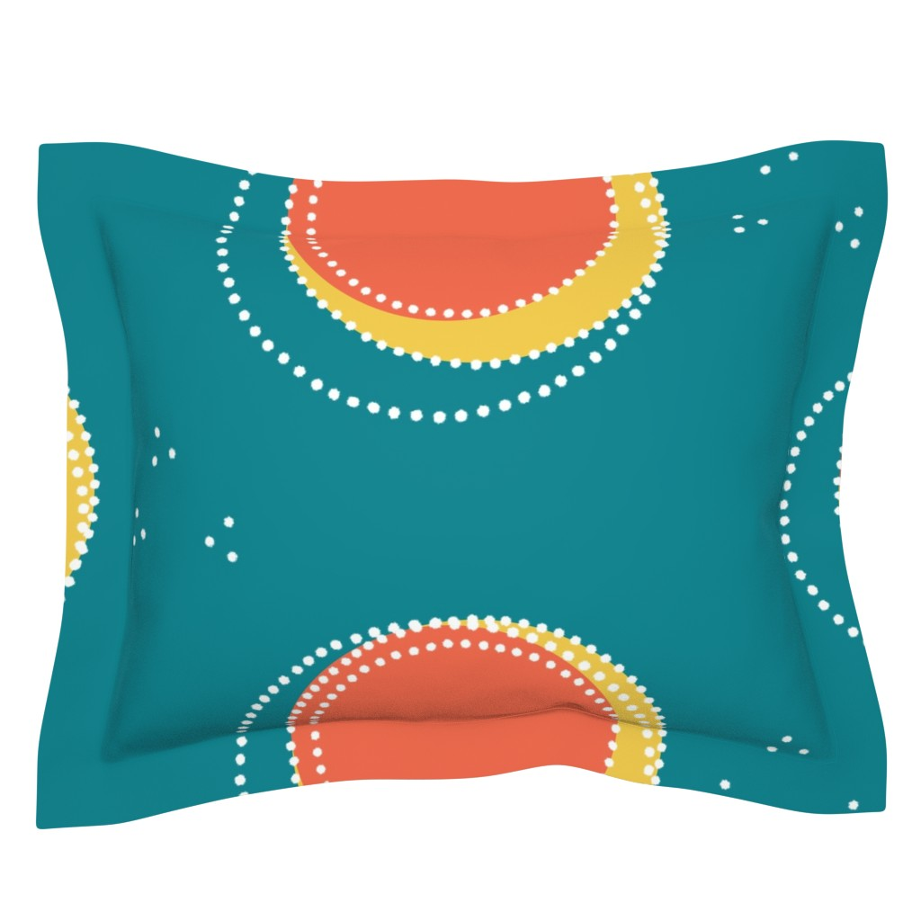 Sebright Pillow Sham featuring Classic comeback, new + bold on teal, by Su_G_©SuSchaefer by su_g