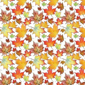 Autumn Maple Leaves 3 inch repeat